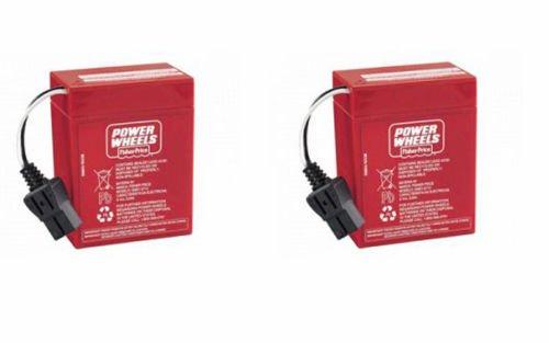 Power Wheels 6 Volt Battery (2 Batteries) Two Batteries 0...