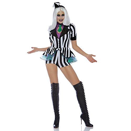 Leg Avenue Womens Beetle Babe 80s Halloween Costume, Black/White, Large]()