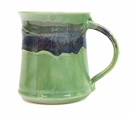 Clay In Motion Handmade Ceramic Medium Mug 16oz - Misty Green