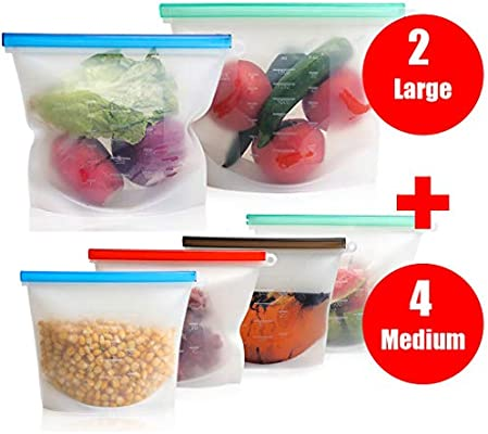 Bolsas reutilizables de silicona para almacenamiento de alimentos ...