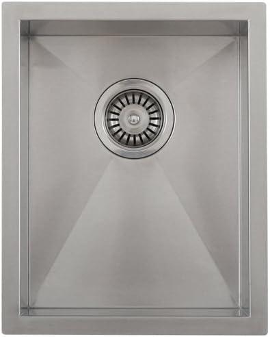 Phoenix 14 Undermount 16 Gauge Stainless Steel Square Kitchen Bar Sink Zero Radius
