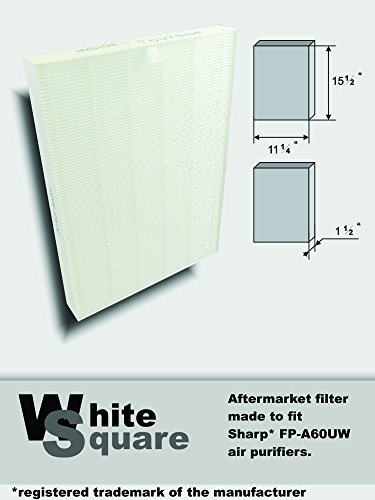 Sharp* Series Fp-a60uw Air Purifier Aftermarket Filter Replaces Fz-a60hfu By White Square