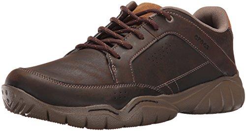 crocs Men's Swiftwater Hiker Shoe, Espresso/Walnut, 13 M US