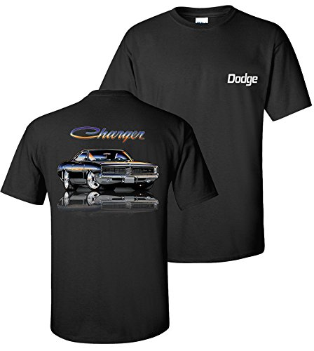 Dodge 1969 Charger R/T T-Shirt 100% Cotton Preshrunk By Johny Rockstar Clothing