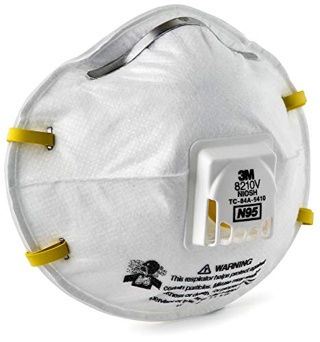 "3M 8210V Particulate Respirator, N95 Respiratory Protection (Case of 80)"" from 3M Personal Protective Equipment"