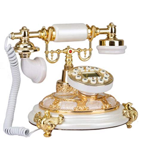 Health UK Telephone- Vintage Classical Decorative Wired Button Landline Phone Living Room Study (Resin + Metal) Welcome