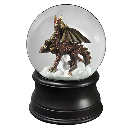 (The San Francisco Music Box Company Golden Dragon Collectible Water Globe from)