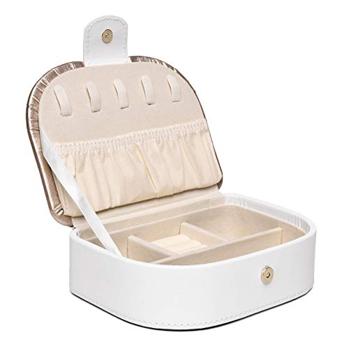 CARENURSE Travel Jewelry Box Organizer Portable Storage Case for Rings, Earring, Necklaces,Great Gift for Girl Women