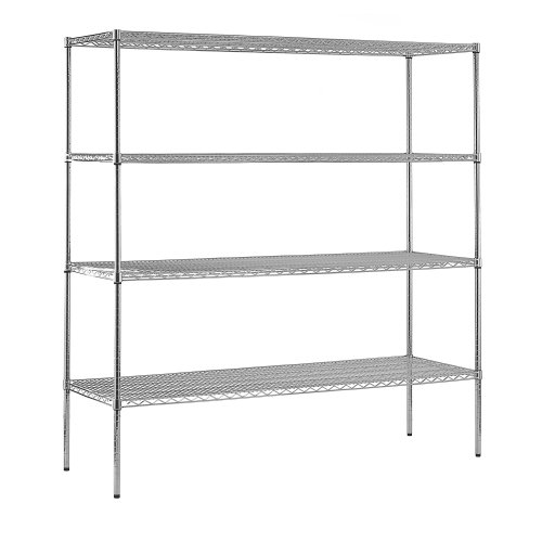 Sandusky WS722486-C Heavy Duty Steel Adjustable Wire Shelving, 600 lbs Capacity, 72