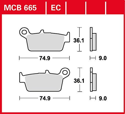 Cx Cross (plaquette de freins Lucas MCB665 pour Gilera DNA 125 M26 | Gilera DNA 180 M26 | Gilera Runner 125 M24 - 4 Takt | Gilera Runner 180 M08 - 2 Takt | Gilera Runner 180 M24 - 4 Takt | Kymco Cobra 50 Cross SF10 | Kymco CX 50 Curio KCP | Kymco)