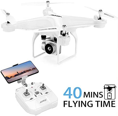 JJRC H68 Drone with 1080P HD Camera, 40Mins Flight Time Quadcopter with Gravity Sensor, Altitude Hold, Headless Mode, 2 Batteries(20+20mins)
