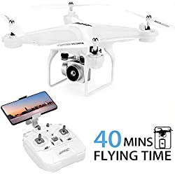 JJRC H68 RC Drone with 720P HD Camera, includes 2 Batteries for longer Flight Time