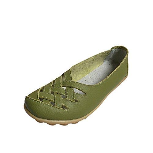 fereshte , Sandales Compensées femme - vert - vert gazon,