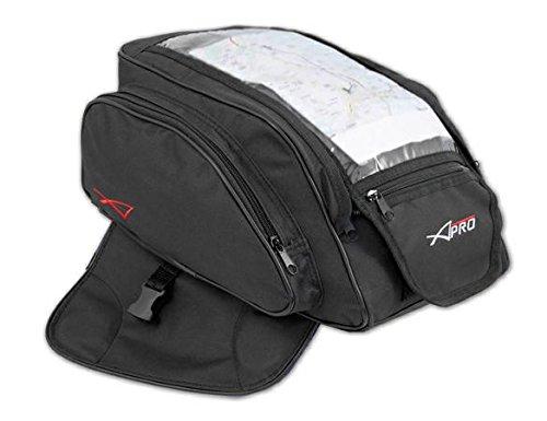 A-Pro Réservoir Sac à Dos Moto Textile 5lt GEPA d\'angle magnétique Noir