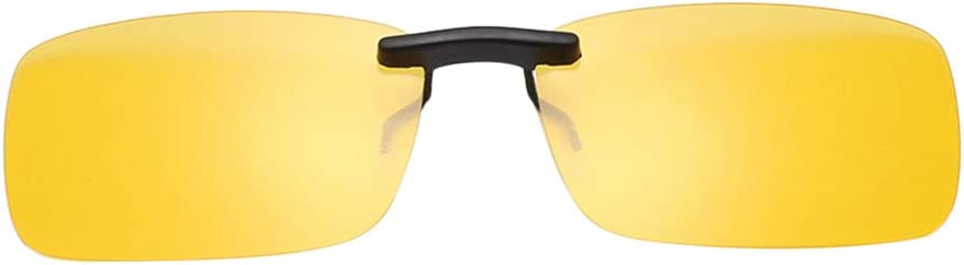 Large, Night Vision Film,Yellow LIOOBO Clip on Glasses Sunglasses and Night Vision Driving Glasses