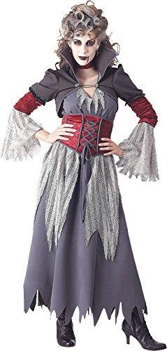 [UHC 19'' Long Horror Victorian Vampire Banshee Wig Halloween Costume Accessory] (Banshee Costumes)