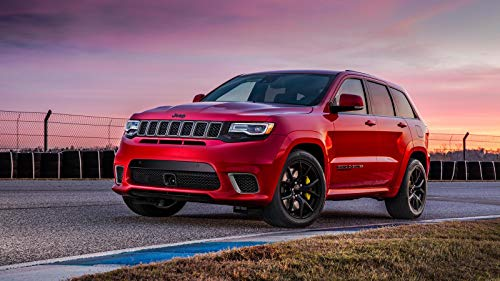 Price comparison product image Jeep Grand Cherokee Trackhawk Car Poster Print 3 (24x36 Inches)
