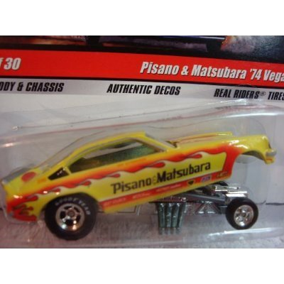 Hot Wheels Real Riders Chevy Dragster Demon Pisano & Mastubara '74 Vega #11 Extreme Detail 1/64 Scale Collector