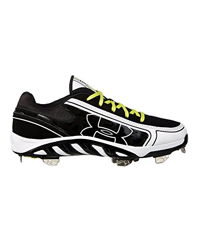 Under Armour Women's Spine Glyde St Cc Metal Fastpitch Cleat, Black/White, SZ 5.5 (Metal Cleats Fastpitch)