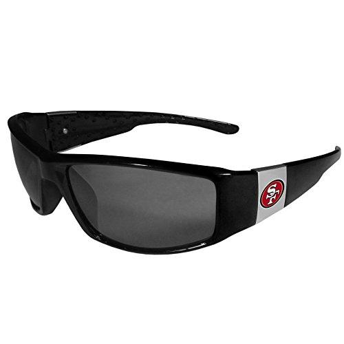 Siskiyou NFL San Francisco 49Ers Unisex Sportschrome Wrap Sunglasses, Black, One Size