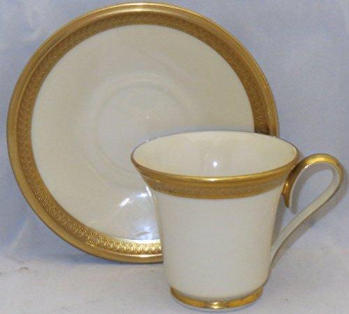 Lenox Aristocrat Footed Demitasse Cup & Saucer Set