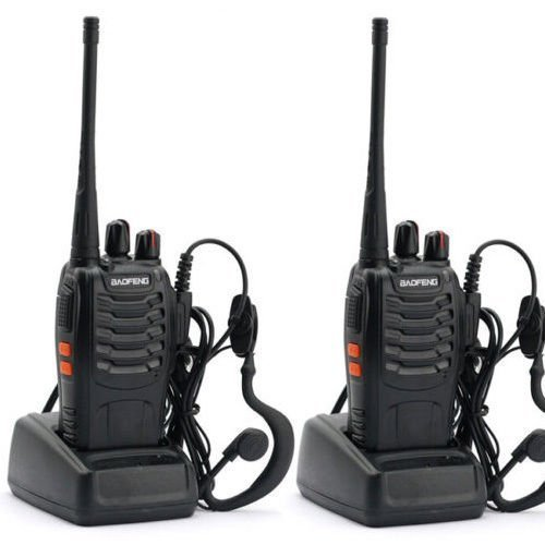 Nestling 2PCS 400-470 MHz BaoFeng Walkie Talkie Two Way Radio Rechargeable Long Range Headset Headphone Built in LED Torch BF-888s(pack of 2)