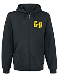 Green Day Mens Official Checker Hoodie, (Black)