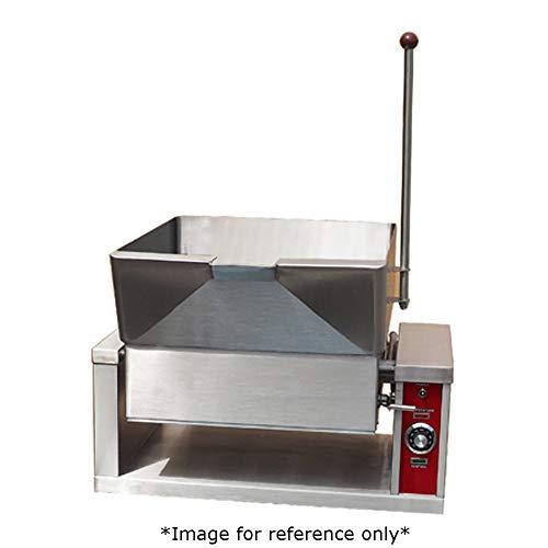 Crown GCTS-16 Gas Countertop Tilting Skillet with 16 Gallon Capacity & Manual Tilt ()