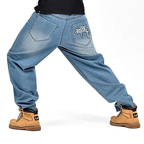 Pantalones Loose Clásico Hop s De Mezclilla Retro Denim Los De Hip Hombres Dancing De Colour Chicos Style Mezclilla Jeans Pantalones Fashion Pantalones De v7aUUq