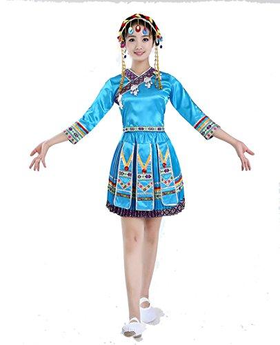 Chinese National Costume (Women Miao Hmong Clothing Chinese Folk Dance Costume National Clothes)