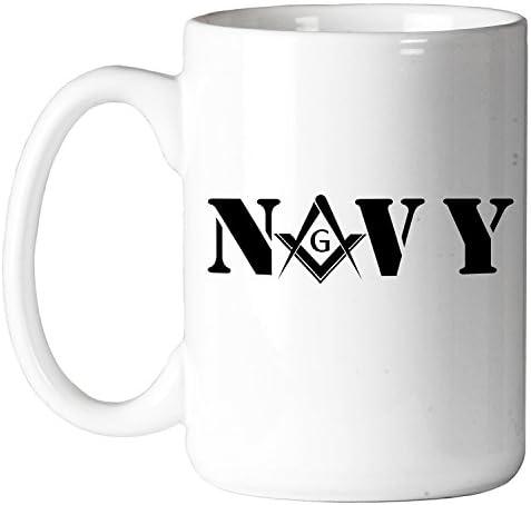 Coffee Mug United States Navy Square /& Compass Masonic 11 oz