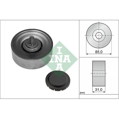 INA 532 0569 10 Poulie renvoi//transmission courroie trap/ézo/ïdale /à nervures
