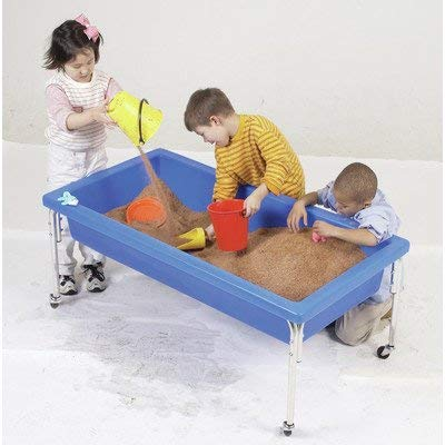 Children's Factory Extra Large Activity Table and Lid Set, 50'' by 26'' by 24'', Blue - Fill with Water, Sand, Beads and More - Lid for Safe, Clean Storage - Made of Durable Plastic - Indoor/Outdoor Use by Children's Factory
