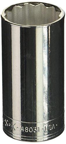 SK Hand Tool 48031 12 Point 1/2-inch Drive Deep Socket, 31mm, (Deep Superkrome Sockets)