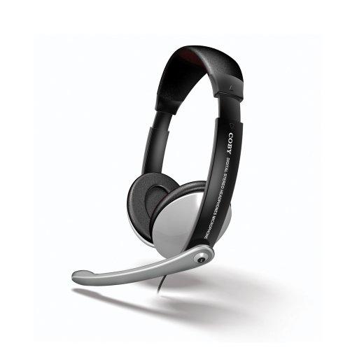 Coby Multimedia Digital Stereo Headphones with Boom Microphone CVM361