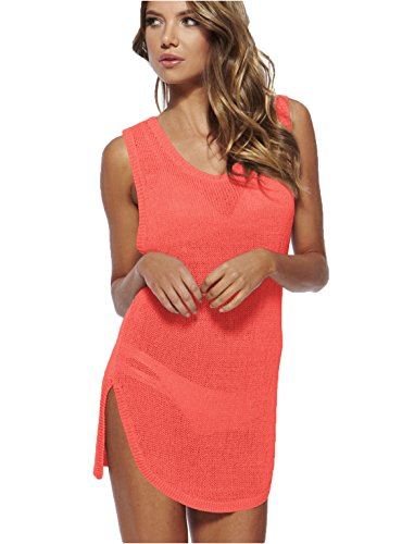 Wander Ago Beach Club Perspective Cover Shirt Bikini Cover-up Net Watermelon Red