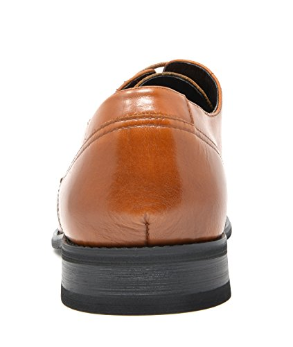 Shoes Bruno Genuine 3 Mens Dress Washington Marc brown Leather Oxfords ww4qRPA