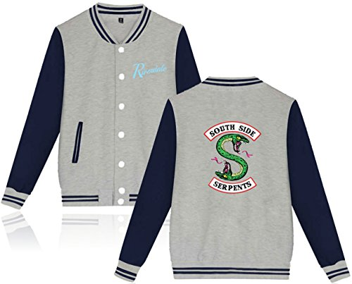 Jacket Di Side Seraphy Serpents South A Grigio Unisex Riverdale Forma Giacca 77zS4H