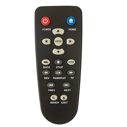 Universal Remote for Western Digital Live HD TV Streaming Media Player Plus Hub WD 1st 2nd 3rd Gen Remote Control (Wd Tv Live Streaming Media Player Manual)
