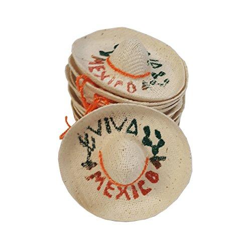 Mini Mexican Sombrero Hats 12 Pack – Mexican Fiesta Decorations – Cinco de Mayo Tabletop Party Supplies -
