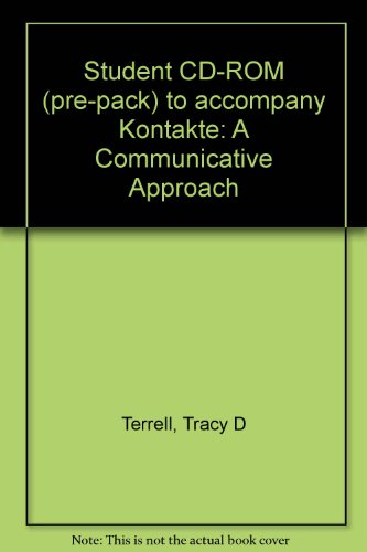 Student CD-ROM (pre-pack) to accompany Kontakte: A Communicative Approach