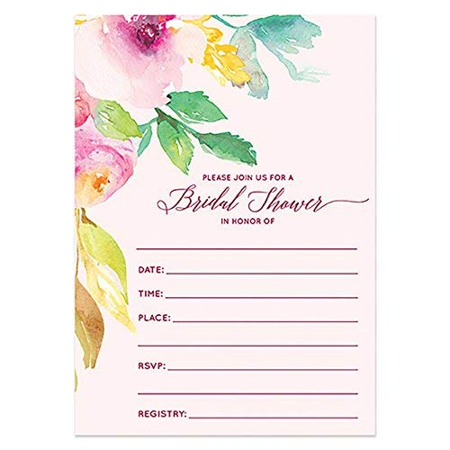 50 ct Bridal Shower Invitations with Envelopes (Pack of 50) Blush Pink Bridal Invites Excellent Value Wedding Party Invitations VI0002