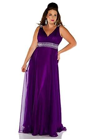 Amazon.com: Fabulouss by Mac Duggal Plus Size Prom Dress