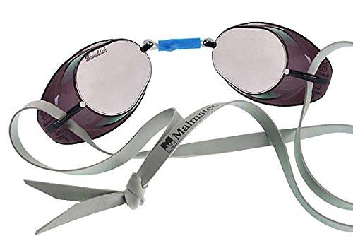 Original Swedish Goggle - Malmsten AB Original Swedish Mirrored Swim Goggles Silver