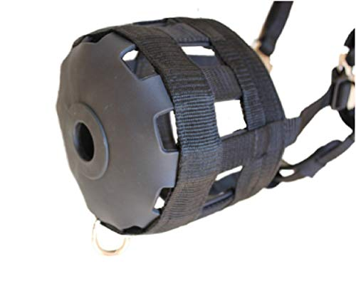 Grazing Muzzle Comfort Lined (Size Choice Pony, Arab Cob Small Quarter Horse, or Horse) Heavy Duty Waffle Neoprene Lining