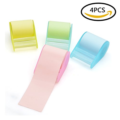 Post-it Notes,izBuy Tape Sticky Notepads with Backing Glue,Mini Paper Memo Collection for Home,Office and School Decoration Reminder, About 1.96''Wide,315''Long,Pack of 2,Color Random(K0212-4) (Wave Stenograph Machine compare prices)