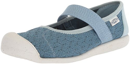 KEEN Women's Sienna MJ Canvas-W Hiking Shoe, Provincial Blue/Sterling Blue, 8 M US (8 Light Provincial)