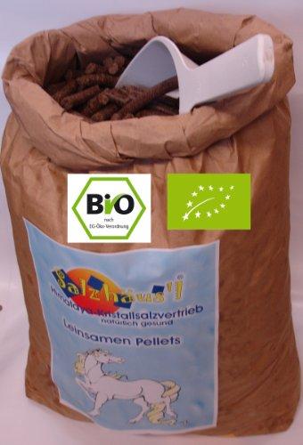 Bio Leinsamen-Pellets - direkt frisch ab der Ölmühle Omega in 10-KG-Gebinden