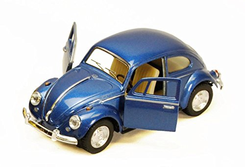 1967 Volkswagen Classic Beetle, Blue - Kinsmart 5057D - 1/32 scale Diecast Model Toy Car (Brand New, but NO BOX) Beetle Diecast Model