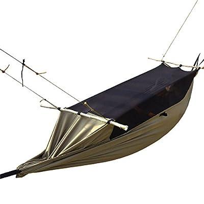 Équipement de plein air Camping Survivors Hamac Tentes Multifonctions Militaire Portable Anti-moustiques Swing Brown